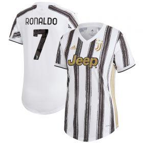Juventus Home Shirt 2020-21 - Womens with Ronaldo 7 printing
