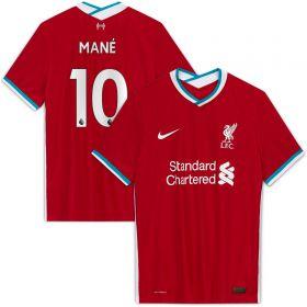 Liverpool Home Vapor Match Shirt 2020-21 with Mané 10 printing