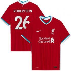 Liverpool Home Vapor Match Shirt 2020-21 with Robertson 26 printing