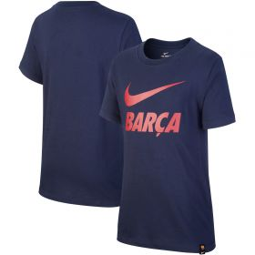 Barcelona Printed T-Shirt - Dark Navy - Kids