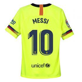 Barcelona Away Stadium Shirt 2018-19 - Kids with Messi 10 printing