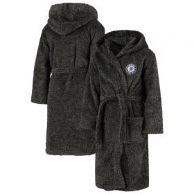 Chelsea Fleece Robe - Charcoal - Boys