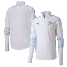 Manchester City Stadium 1/4 Zip Top - White