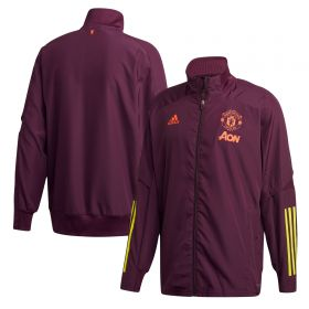 Manchester United Cup Training Presentation Jacket - Purple