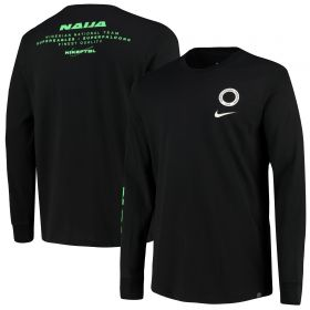 Nigeria LS T-Shirt - Black