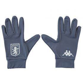 Aston Villa Kappa Gloves - Grey