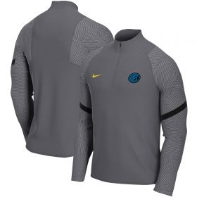 Inter Milan Strike Drill Top - Dark Grey