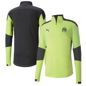 Olympique de Marseille Training 1/4 Zip Top - Yellow