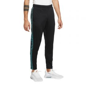 Barcelona Pant With Palm Print Taping - Black