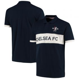 Chelsea Retro Polo - Navy - Mens