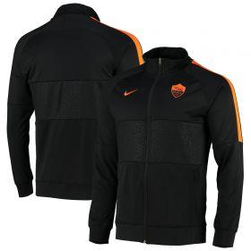 AS Roma I96 Anthem Track Jacket - Black