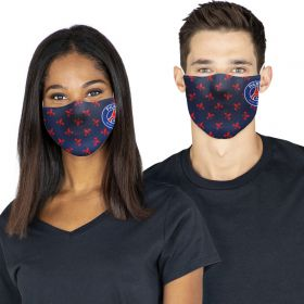 Paris-Saint Germain 3 Pack Face Coverings - Blue/White/Black - Adults