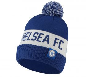 Chelsea Pom Beanie - Blue