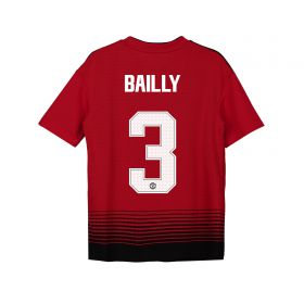 Manchester United Home Cup Shirt 2018-19 - Kids with Bailly 3 printing