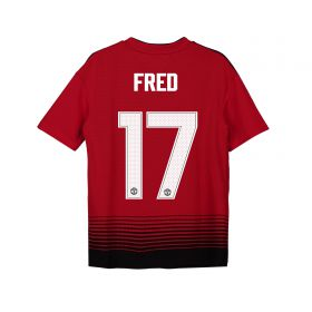 Manchester United Home Cup Shirt 2018-19 - Kids with Fred 17 printing