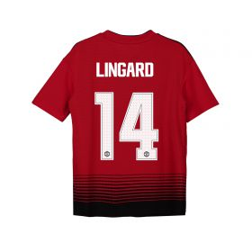 Manchester United Home Cup Shirt 2018-19 - Kids with Lingard 14 printing
