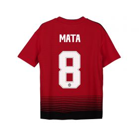 Manchester United Home Cup Shirt 2018-19 - Kids with Mata 8 printing