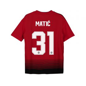 Manchester United Home Cup Shirt 2018-19 - Kids with Matic 31 printing