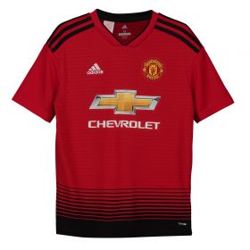 Manchester United Home Shirt 2018-19 - Kids with Dalot TBC printing