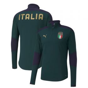 Italy Training 1/4 Zip Top - Green