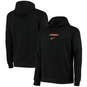 AS Roma Pullover Fleece Hoodie - Black