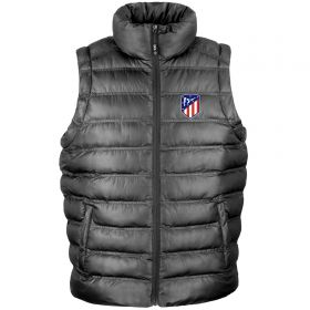 Atlético de Madrid UEFA Champions League Embroidered Gilet - Black - Mens