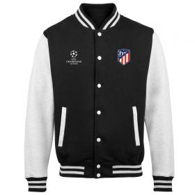 Atlético de Madrid UEFA Champions League Varsity Jacket - Black/White - Mens