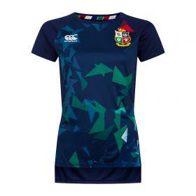 British & Irish Lions Graphic Superlight T-Shirt - Peacoat - Womens