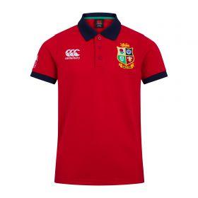 British & Irish Lions Home Nations Polo Shirt - Red - Junior