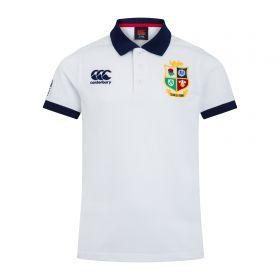 British & Irish Lions Home Nations Polo Shirt - White - Junior