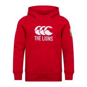 British & Irish Lions Logo Hoodie - Red - Junior