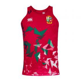 British & Irish Lions Poly singlet - Red - Mens