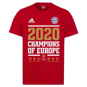 FC Bayern UEFA Champions League 2020 Winners T-Shirt - Red