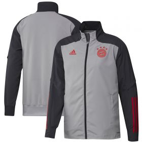 FC Bayern Cup Training Presentation Jacket - Grey