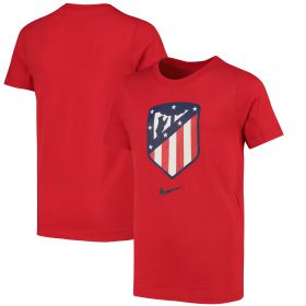 Atlético de Madrid Crest T-Shirt - Red - Kids