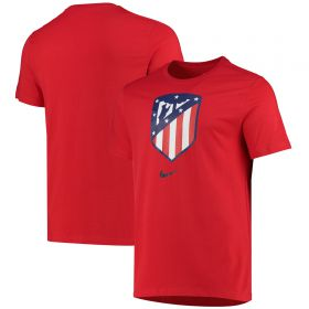 Atlético de Madrid Evergreen Crest T-Shirt - Red