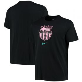 Barcelona Evergreen Crest T-Shirt - Black