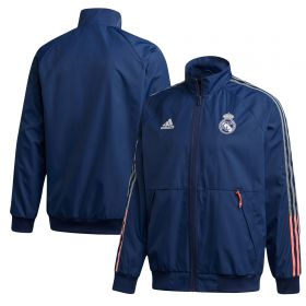 Real Madrid Anthem Jacket - Dark Blue