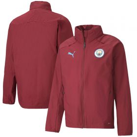 Manchester City Rain Jacket - Burgundy
