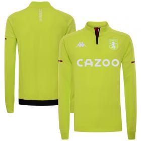 Aston Villa Player Training 1/4 Zip - Lime