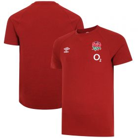 England Rugby Travel Marl T-Shirt - Red - Mens
