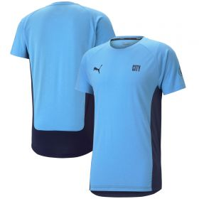 Manchester City Evostripe T-Shirt - Sky Blue