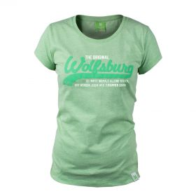 VfL Wolfsburg Script T-Shirt - Green - Girls