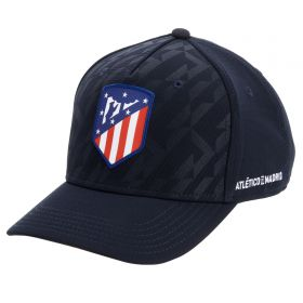 Atlético de Madrid Allover Print Panel Cap - Navy - Adults