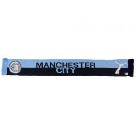 Manchester City Split Scarf - Sky/Navy - Adult