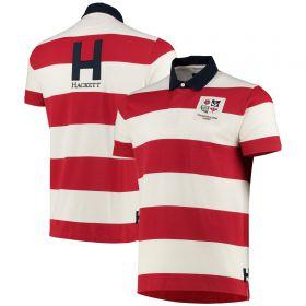British & Irish Lions Hackett London Stripe Short Sleeve Rugby - Red/White