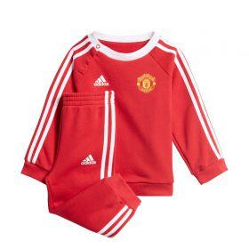 Manchester United 3 Stripe Jogger Set - Red - Baby/Infants