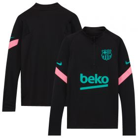 Barcelona Strike Drill Top - Black - Kids
