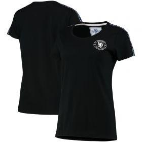 Chelsea Tape T-Shirt - Black - Womens
