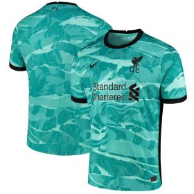 Liverpool Away Stadium Shirt 2020-21 with Henderson 14 printing